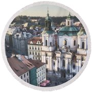 St Nicholas Prague Round Beach Towel