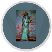 St. Patrick Cathedral  Round Beach Towel