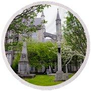 St Patricks Cathedral - Dublin Ireland Round Beach Towel