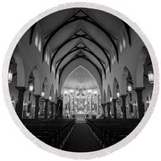 St Patricks Cathedral Fort Worth Round Beach Towel