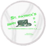 St. Patrick's Day Memphis 3d Round Beach Towel