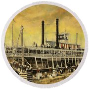 St. Paul Steamboat Round Beach Towel