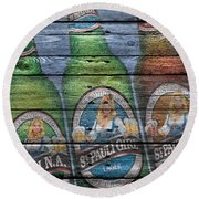 St Pauli Girl Round Beach Towel