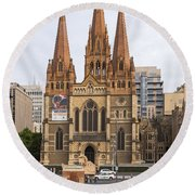 St. Paul's Anglican Cathedral Round Beach Towel
