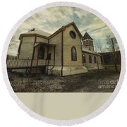 St. Pauls Anglican Church Round Beach Towel by Priska Wettstein
