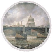 St. Paul's Cathedral From The Southwark Bank Round Beach Towel