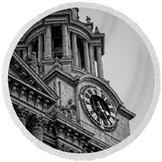 St Pauls Clock Tower Round Beach Towel