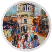 St Paul's From The Millennium Bridge Round Beach Towel