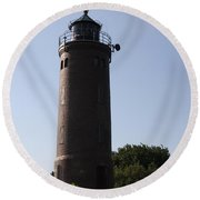 St. Peter-ording Lighthouse - North Sea - Germany Round Beach Towel