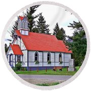 St Peters Anglican Church Round Beach Towel