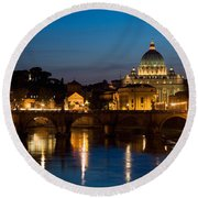 St. Peters Basilica Round Beach Towel