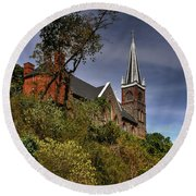 St. Peter's Of Harpers Ferry Round Beach Towel by Lois Bryan