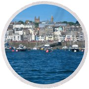 St Peters Port Guernsey  Round Beach Towel
