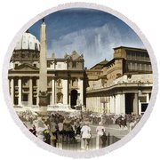 St Peters Square - Vatican Round Beach Towel