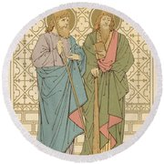 St Philip And St James Round Beach Towel by English School
