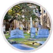 St. Philips Church Cemetery Charleston Sc Round Beach Towel