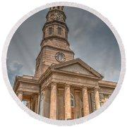 St. Philip's Episcopal Church In Charleston Round Beach Towel