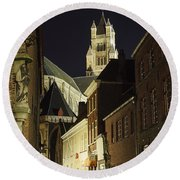 St Saviour Cathedral  Round Beach Towel
