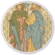St Simon And St Jude Round Beach Towel