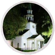 St Simons Island Presbyterian Church Round Beach Towel