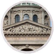 St. Stephen's Basilica Closeup Round Beach Towel