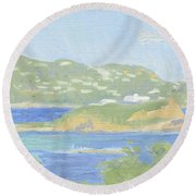St. Thomas From Water Island Round Beach Towel