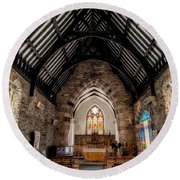 St Tudcluds Church Round Beach Towel by Adrian Evans