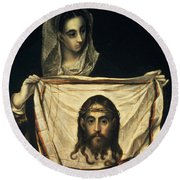 St Veronica With The Holy Shroud Round Beach Towel
