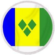 St. Vincent Flag Round Beach Towel