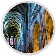 St Vitus Cathedral Round Beach Towel