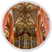 St Wendel Basilica Organ Round Beach Towel