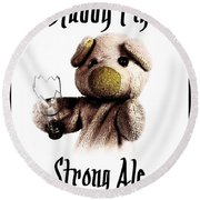 Stabby Pig Strong Ale Round Beach Towel