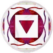 Stabilized Emotions And Thoughtful Feelings Abstract Chakra Art  Round Beach Towel