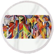 Stables 1913 Round Beach Towel