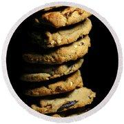 Stack Of Cookies Round Beach Towel