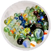 Stack Of Marbles Round Beach Towel