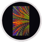 Stacked Colors Round Beach Towel