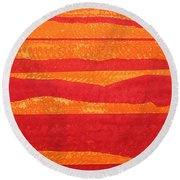 Stacked Landscapes Original Painting Round Beach Towel