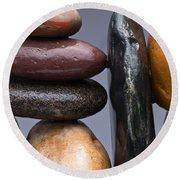 Stacked Stones 2 Round Beach Towel