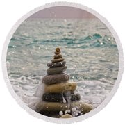 Stacking Stones Round Beach Towel