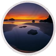 Stacks And Stones Round Beach Towel by Mike  Dawson