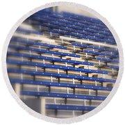 Stadium Stalls Round Beach Towel
