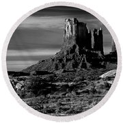 Stagecoach Rock Monument Valley Round Beach Towel