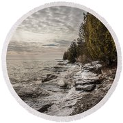 Staggering Shores Round Beach Towel