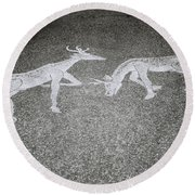 Stags Round Beach Towel
