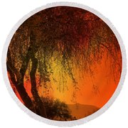 Stained By The Sunset Round Beach Towel