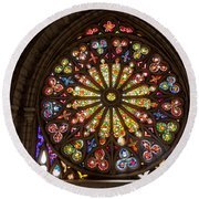 Stained Glass Details Round Beach Towel