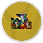 Stained Glass IIi Round Beach Towel