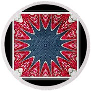 Stained Glass Lace - Kaleidoscope Round Beach Towel