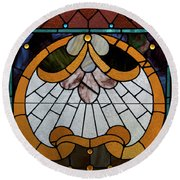Stained Glass Lc 09 Round Beach Towel